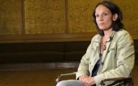 Marion Brasch beim Interview im Rundfunkgebäude in der Nalepastraße